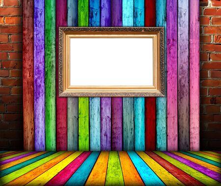 Blank Vintage Frame in Creative Room photo