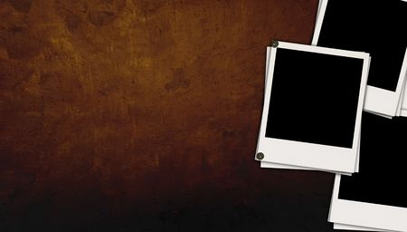 recollections: Blank Photos on Dark Brown Background