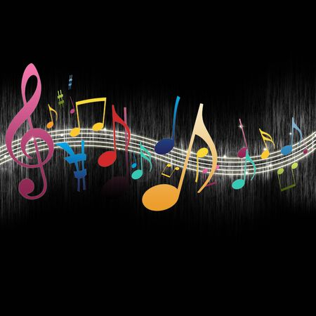 Colorful Music Notes Stock Photo - 7716591