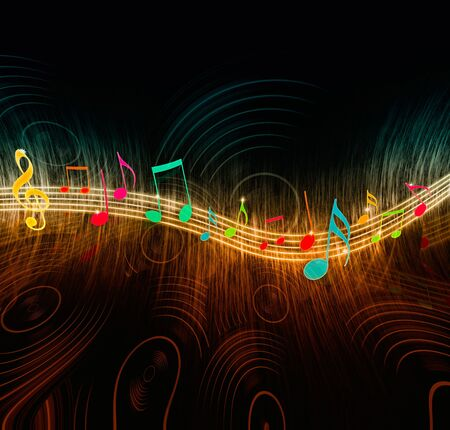 music background: Creative Music Notes