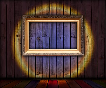 recollections: Blank Frame in Wooden Room