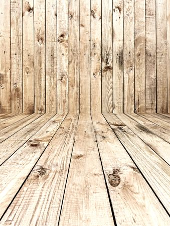 textured backgrounds: Empty Wooden Room Stock Photo
