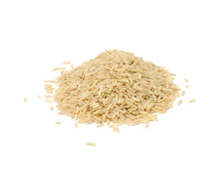 Pile of Brown Rice photo