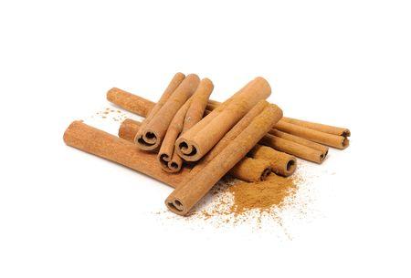 Cinnamon Sticks and Ground Cinnamon Stock Photo - 7965711