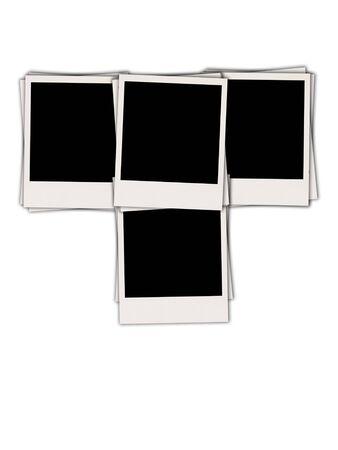 retrospect: Four Blank Photos Isolated on White