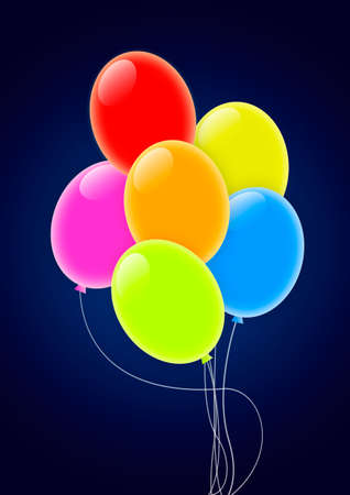 Multicolored Party Balloons Stock Photo - 8117555