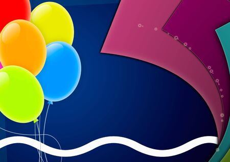 Party Background with Multicolored Balloons And Copy Space Stock Photo - 8117567