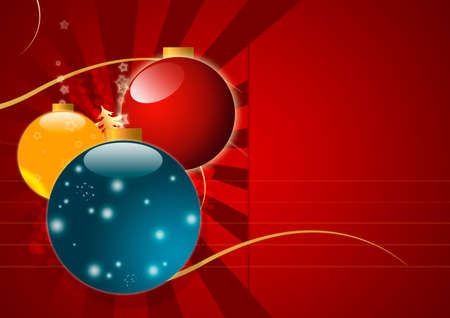 Christmas Background with Glowing Balls And Copy Space photo