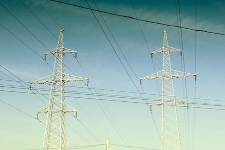 Electricity Pylons And Power Lines Stock Photo - 8170327