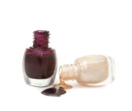 Spilled Nail Polish Isolated on White Background Stock Photo - 8170373