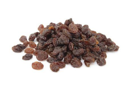 Pile of Raisins Isolated on White Background Stock Photo