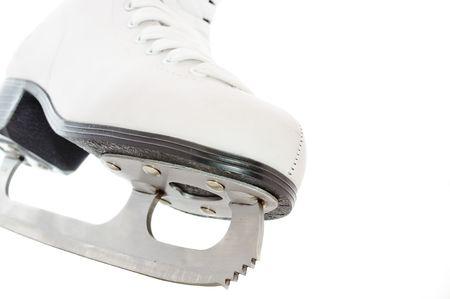 Ice Skate on White Background photo