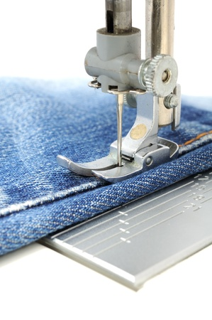 cloth manufacturing: Sewing Machine Stock Photo