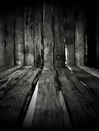 Dark Wooden Room As Background Stock Photo - 8447131