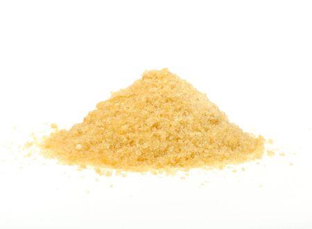 gelatina: Pila de gr�nulos de gelatina aislada sobre fondo blanco Foto de archivo