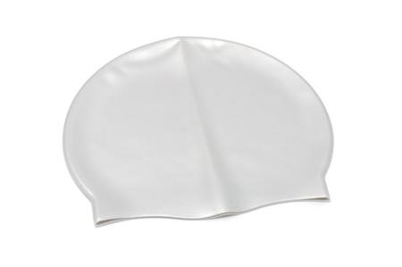 elementos de protección personal: Nadar Cap aislado en fondo blanco