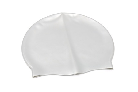 Swim Cap Isolated on White Background