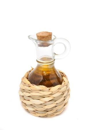 Bottle of Apple Cider Vinegar Isolated on White Background photo