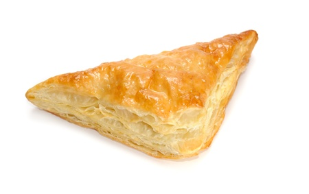 puff: Puff Pastry Triangle Isolated on White Background