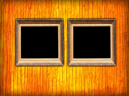 Two Blank Frames on Wall photo