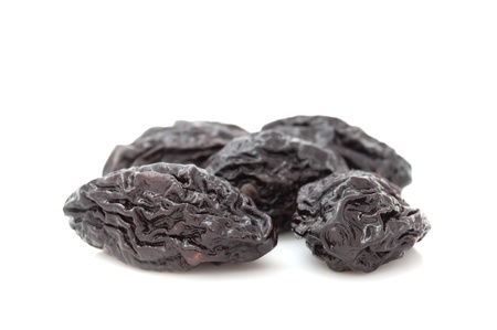 cathartic: Prunes Isolated on White Background