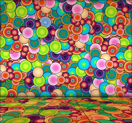 Vibrant Bubbly Background photo