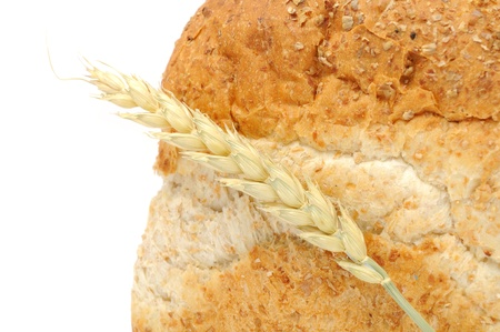 Bran Bread with Ear of Wheat photo