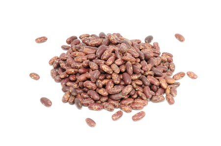 Pile of Kidney Beans Isolated on White Background photo