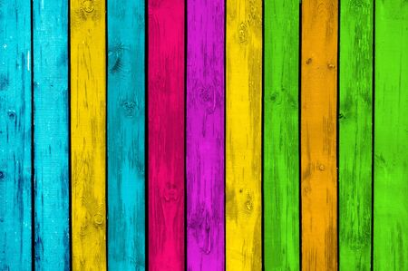 vibrant colors fun: Vibrant Wood Background Stock Photo