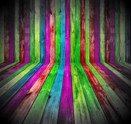 Levendige houten kamer Stockfoto