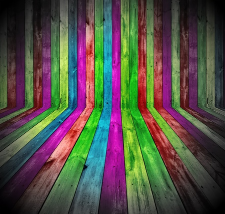 background: Vibrant Wooden Room