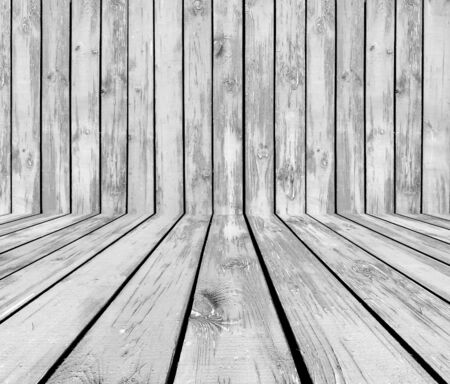 Grey Wooden Room Stock Photo - 9133075
