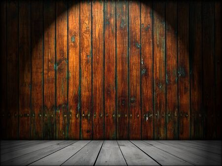 Empty Wooden Room As Background photo