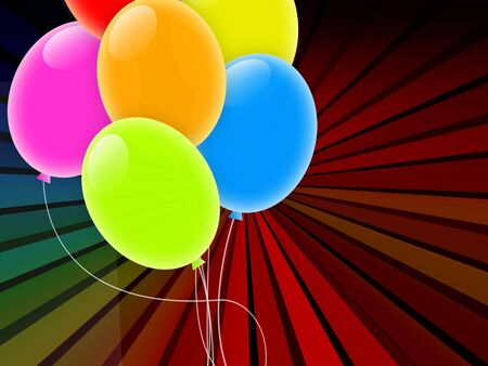 Holiday Background with Multicolored Balloons Stock Photo - 9175646