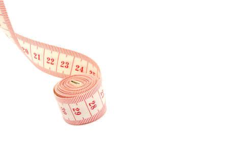 Measuring Tape on White Background photo