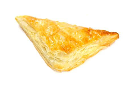 teacake: Puff Pastry Triangle Isolated on White Background