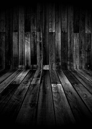 Dunkle Holzzimmer Standard-Bild