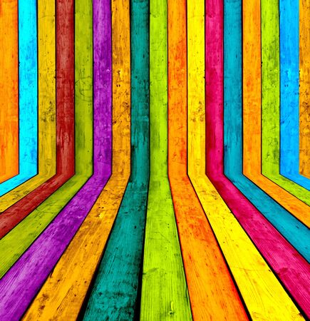 glorious: Multicolored Wooden Room