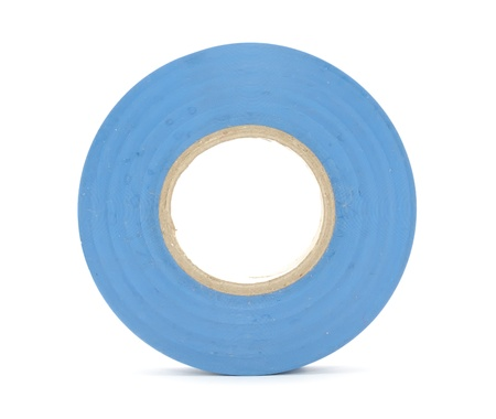 Roll of Insulating (Electrical) Tape Isolated on White Background photo