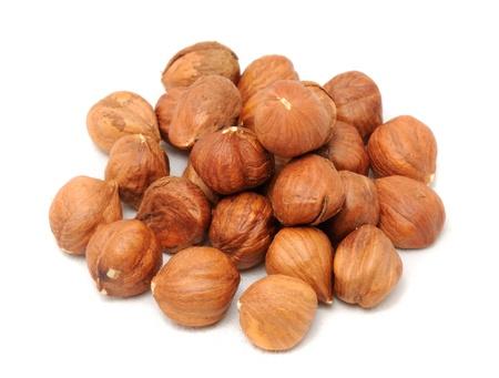 kernels: Hazelnuts Isolated on White Background
