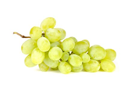 White Grapes Isolated on White Background photo