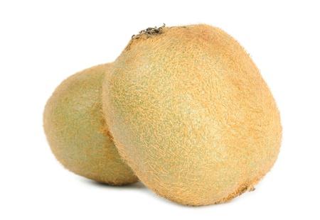 kiwi fruta: Frutas Kiwi aisladas sobre fondo blanco