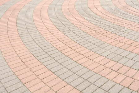 concrete block: Tiled Pavement Stock Photo