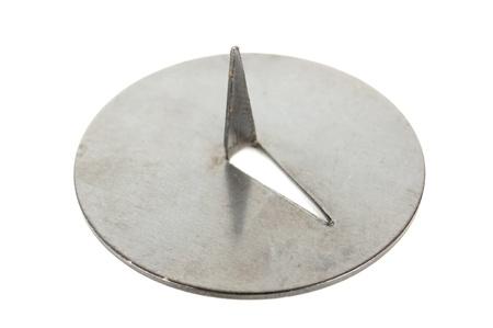 Push Pin Close-up Isolated on White Background photo
