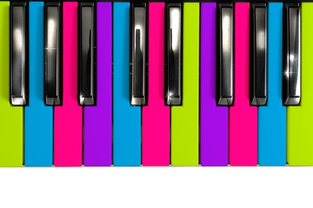 Multicolored Disco Style Piano Keys photo