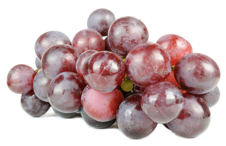 Purple Grapes Isolated on White Background photo