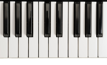 keyboard key: Piano Keys Stock Photo