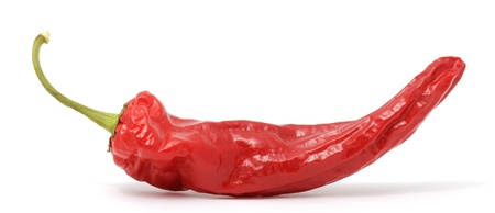 Red Hot Chili Pepper Isolated on White Background photo