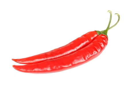 Red Hot Chili Peppers Isolated on White Background photo