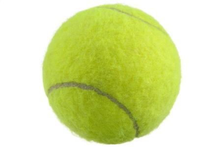 Tennis Ball auf weißen Hintergrund